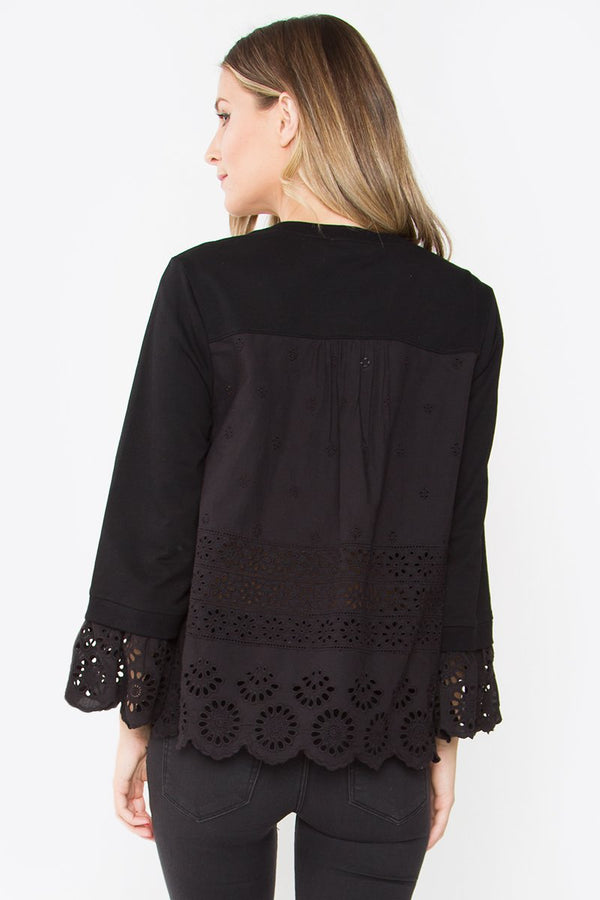 Tracie Eyelet Knit Top
