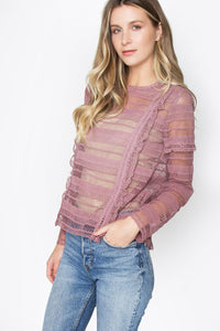 Juliet Lace Blouse Top