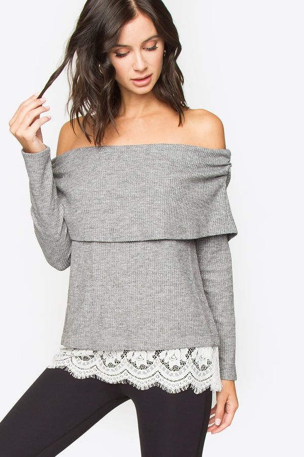 Dannibelle Off The Shoulder Knit Top
