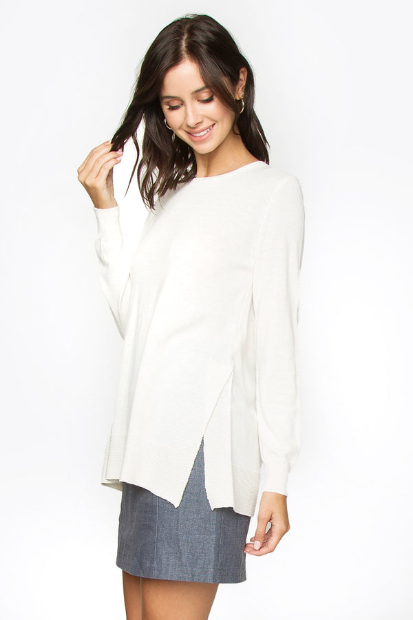 Karolina Side Slit Sweater