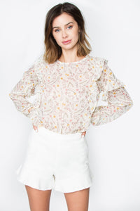 Farley Sheer Printed Top