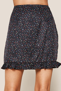 Reece Star Print Ruffle Mini Skirt