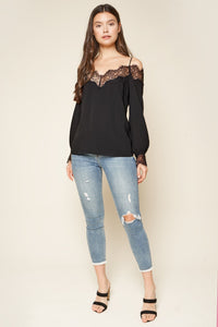 Trixie Lace Trim Blouse