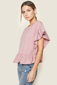 Sagrada Raw Edge Ruffle Top