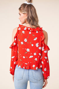 Just Like Candy Cold Shoulder Top
