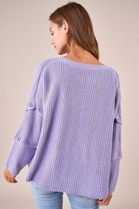 Tessa Button Sleeve Sweater