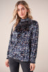 Everest Velvet Floral Smocked Top