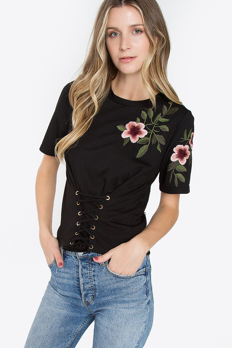 Caicos Embroidered Knit Top
