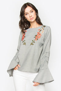 Cherri Floral Embroidered Top