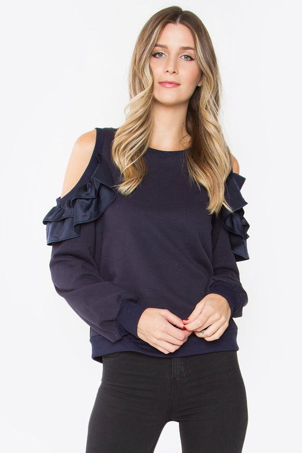 Brandi Cold Shoulder Top