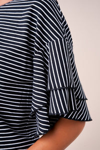 Teeny Striped Ruffle Top