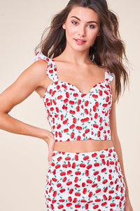 Steal Your Heart Bustier Crop Top