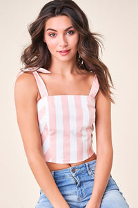 Better Now Striped Crop Top