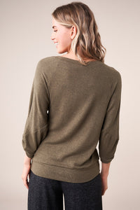 In The Mix Long Sleeve Knit Top