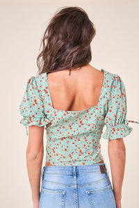 Full Bloom Floral Button Up Blouse