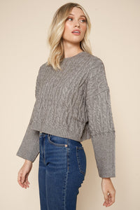 Aspen Cable Knit Cropped Sweater