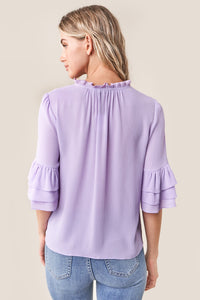 Break Room Ruffle Blouse