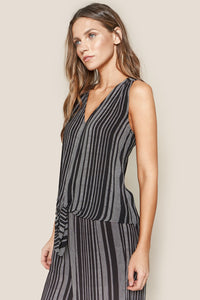 Westgate Striped Front Tie Top