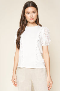 Kalianna Lace Trim Top