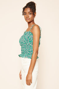 Isla Floral Cropped Tank Top