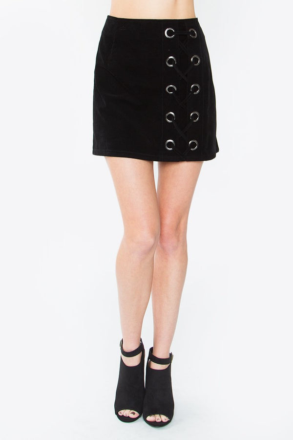 Remi Lace-Up Skirt