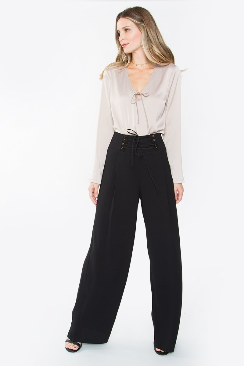 Behati Corset Lace-Up Pants