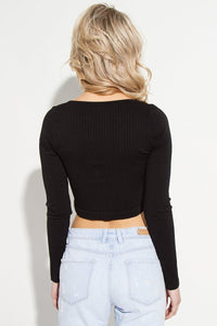 Rib Knit Long Sleeve Top