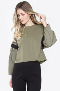 Chavelle Poplin Knit Top