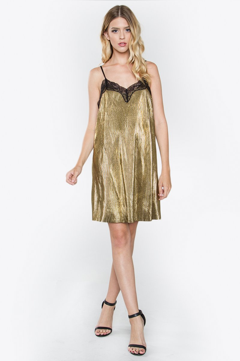 Ciara Metallic Slip Dress
