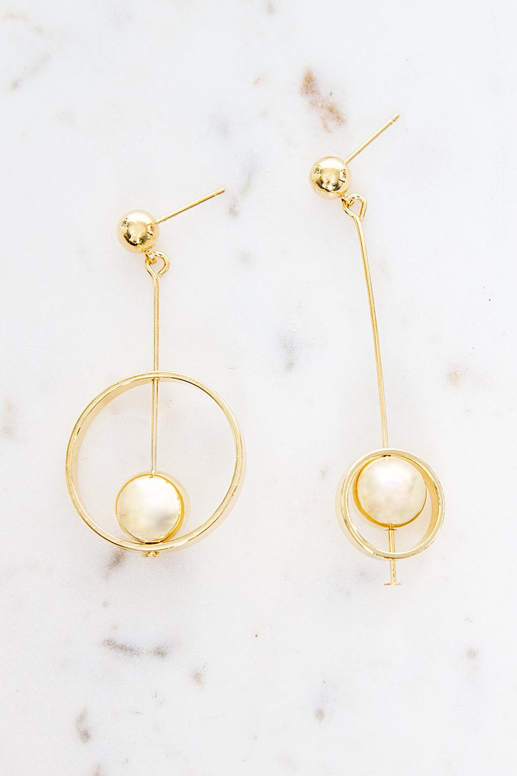 Fierce Open Circle Drop Earrings