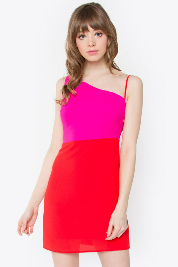 Love Again One Shoulder Dress