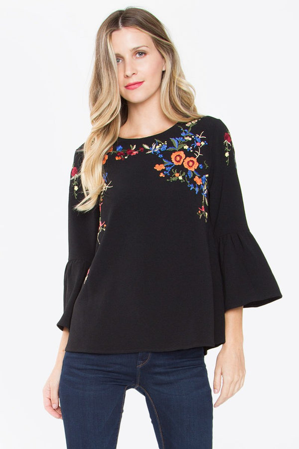 Alkali Embroidered Top