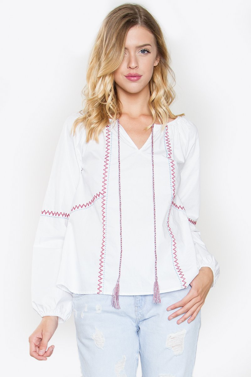 Aster Embroidered Top