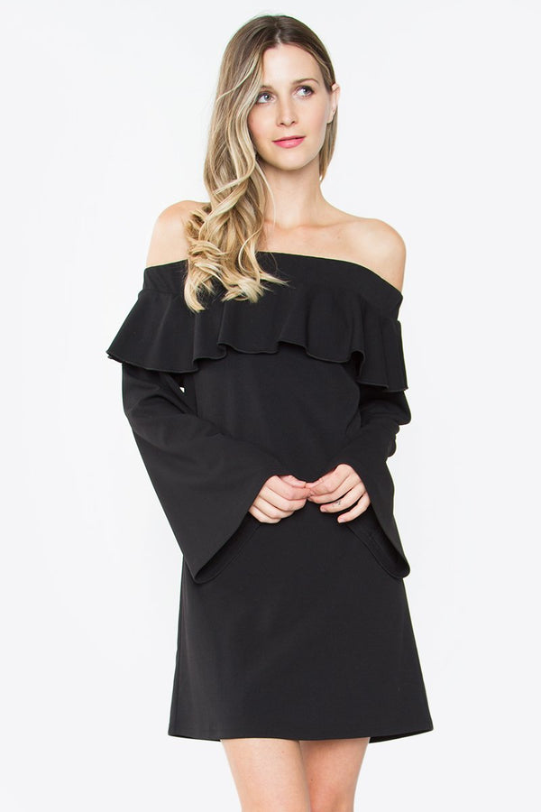 Kiki Ruffle Off The Shoulder Dress