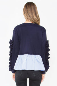 Holly Poplin Knit Top