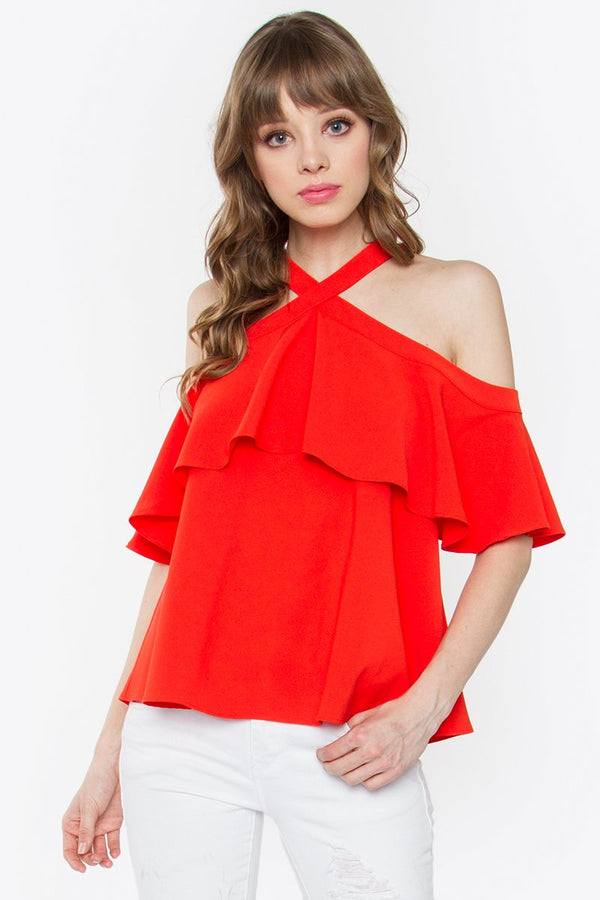 Rayna Cold Shoulder Top