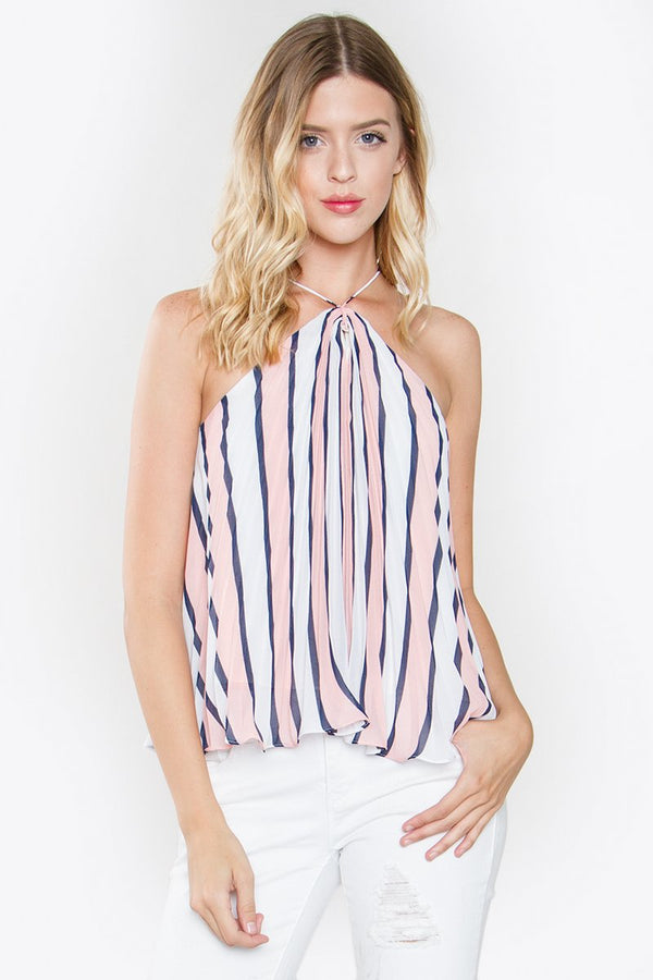 Muse Stripe Halter Top