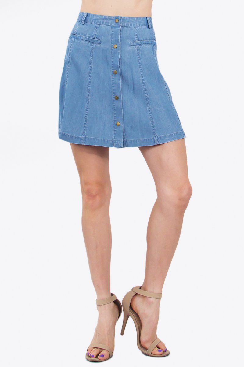 Katie Chambray Skirt