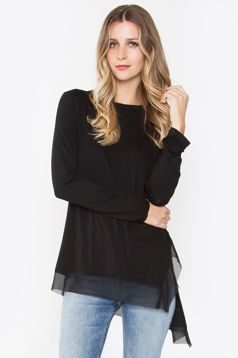 Zadia Asymmetrical Knit Top