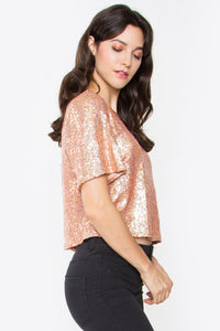 Adela Sequin Crop Top