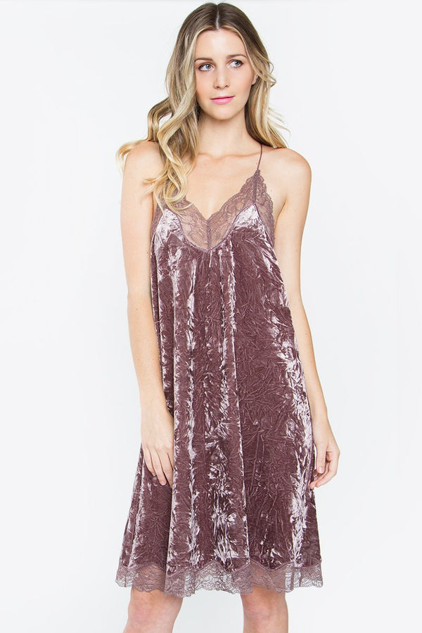 Savina Lace Velvet Dress