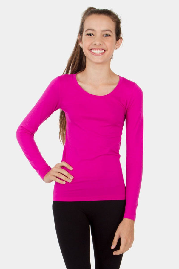 Long Sleeve Kids Seamless Top