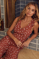 Hot In The City Polka Dot Wide Leg Jumpsuit