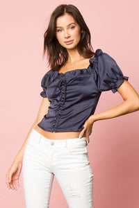 Pammy Lace Up Top