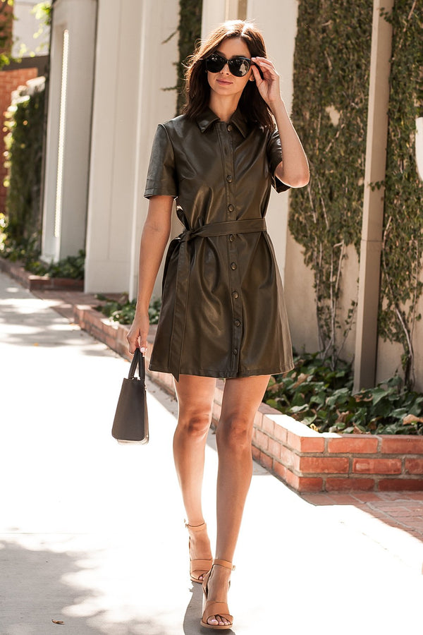 Sassy Leather Dress