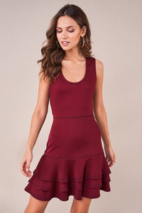 Brenn Rufflle Trim Dress