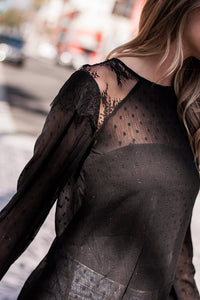 Zana Lace Inset Top