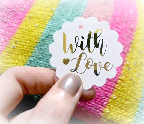 With Love Foil Tags