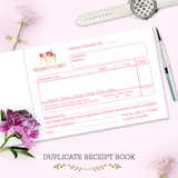 Cake Business Receipt, Allergy & Delivery Disclaimer Book