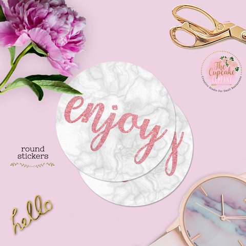 Marble ''Enjoy'' Stickers